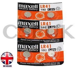 6-x-Genuine-Maxell-AG3-L-736-LR41-LR736-1-5-V-Bouton-Cellule-Piles-Alcalines