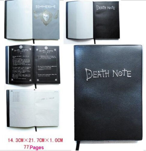 Death Note Notebook /& quill pen Nice necklace Set Writing Journal Anime Cosplay