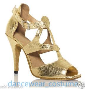 Ladies Waltz Party Ballroom Rumba Samba Latin Tango Salsa Dance Shoes Heel US5-9