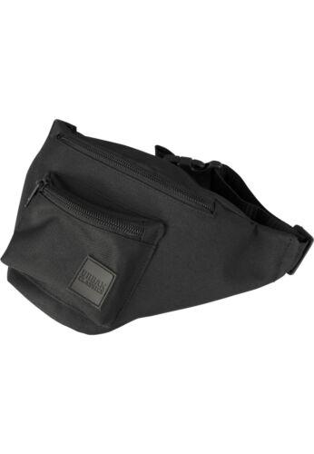Urban Classics Hip Bag Black Ventre Sac Ceinture patch Triple Zip variable