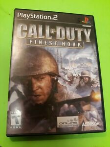 Call Of Duty Finest Hour PS2 Playstation 2 Complete Tested and Played w/ Manual