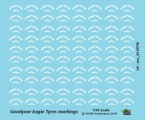 1//43 Decals Vintage Goodyear Eagle Markings FFSMC Productions x60