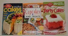 lot of 3 Betty Crocker Party Cakes Creative Best Recipe Cupcakes treats cookbook