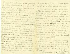 LETTRE AUTOGRAPHE SIGNEE par Maurice LE BLOND 22 avril 1900