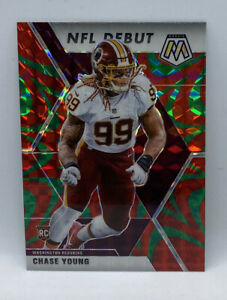 CHASE YOUNG 2020 Reactive Green Prizm Mosaic Debut Rookie RC # 272 REDSKINS HTTR