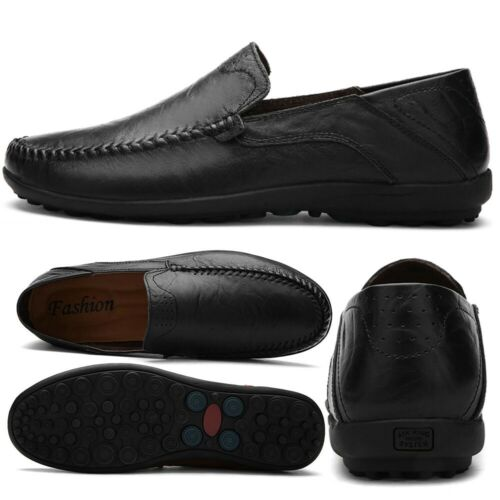 Men/'s Driving Casual Boat Shoes Leather Flat Shoes Moccasin Slip On Loafers Size