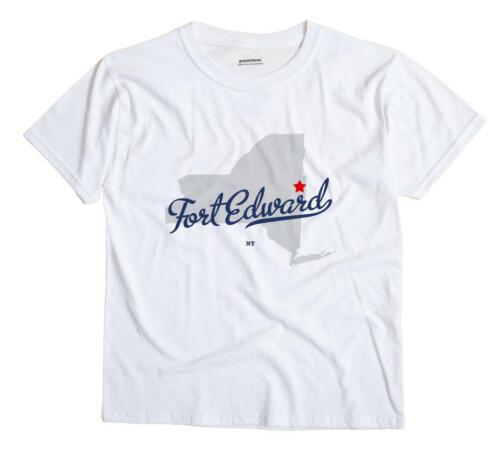Fort Edward New York NY T-Shirt MAP