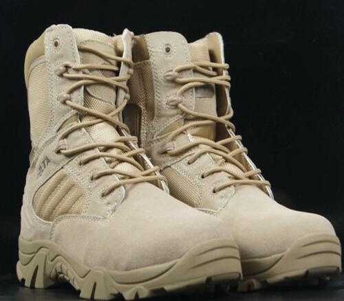 Men/'s Military Ankle Boot Tactical Combat Shoes Leather Comfort Desert Boots sz