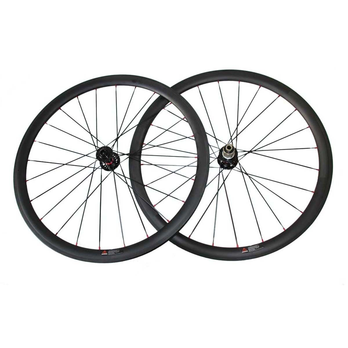 20.5mm or 23mm width 38mm clincher full carbon cyclocross bicycle wheelset