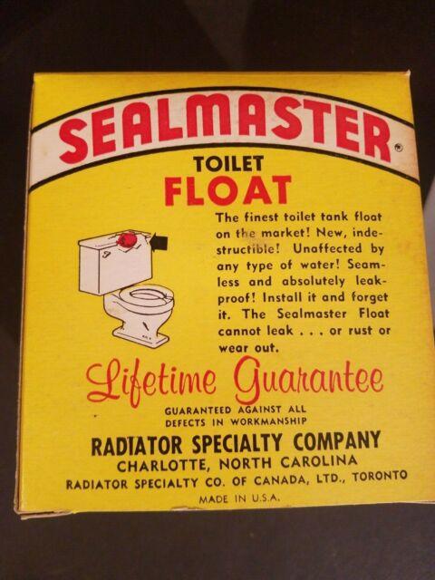 NOS Vintage Solder Seal Sealmaster Plastic Copper Color Toilet Tank Float