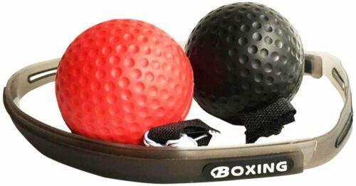 Emoly Boxing Reflex Ball 2 Headband Speed Punch Punching Training Fight Exercise