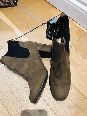 Ladies Primark Khaki Brown Ankle Boots