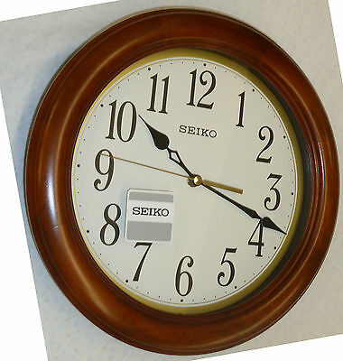 Seiko Round Wooden Wall Clock 11 5 Quot In Diameter Qxa522blh