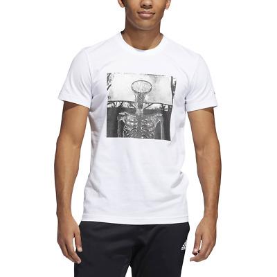 Adidas Hommes Basketball T Shirt Crâne Boule Mode de Vie Graphique Entraînement   eBay