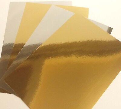 A3-a4-a5 Mirri Card-Gold-Silver 250gsm Metallic Card Stock-Card Making