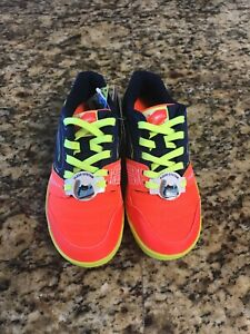 Joma-Sala-Max-Jr-616-Navy-Orange-Indoor-Soccer-Shoes-Size-1-5-Youth