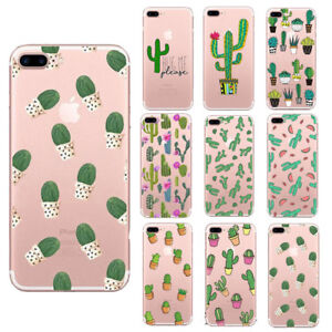 new concept 9dd33 fc1c6 Details about New Cactus Clear Soft TPU Plants Phone Case Cover For iPhone  5 5s 6 6s 7 8 Plus