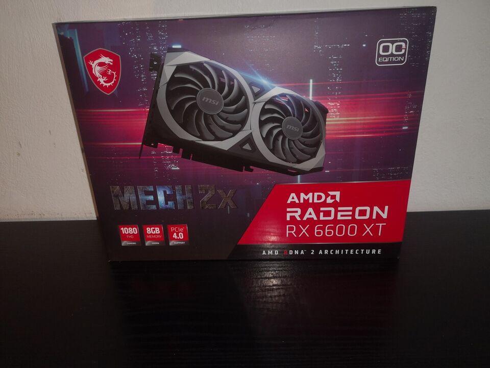 RX 6600 XT MSI Radeon MECH 2X OC , 8 GB RAM, Perfekt