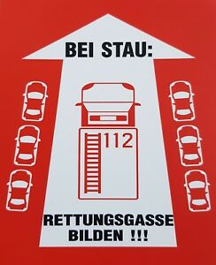 Autoaufkleber Rettungsgasse