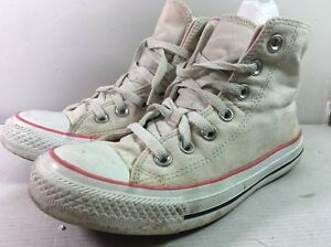 AW7-CONVERSE-Cream-Pink-ALL-STAR-BOOTS-SIZE-5