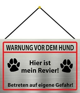 Warning-Dog-Mein-Revier-Sign-with-Cord-Metal-Tin-Sign-7-8x11-13-16in-FA1106-K