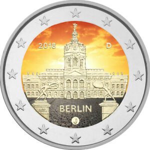 2-Euro-Gedenkmuenze-BRD-Deutschland-2018-Berlin-coloriert-Farbe-Farbmuenze