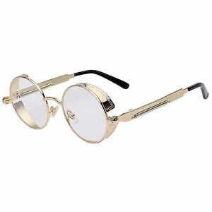 78e7b60466 Image is loading 060-C13-Steampunk-Gothic-Sunglasses-Metal-Round-Gold-