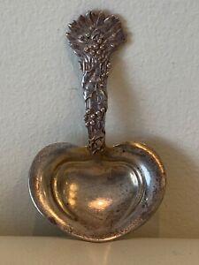Tiffany & Co. Holly Pattern Sterling Silver Nut Bon Bon Spoon