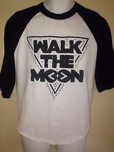 WALK-THE-MOON-BAND-TOUR-2015-XL-3-4-SLEEVE-T-SHIRT-INDIE-POP-ROCK-OUT-OF-PRINT