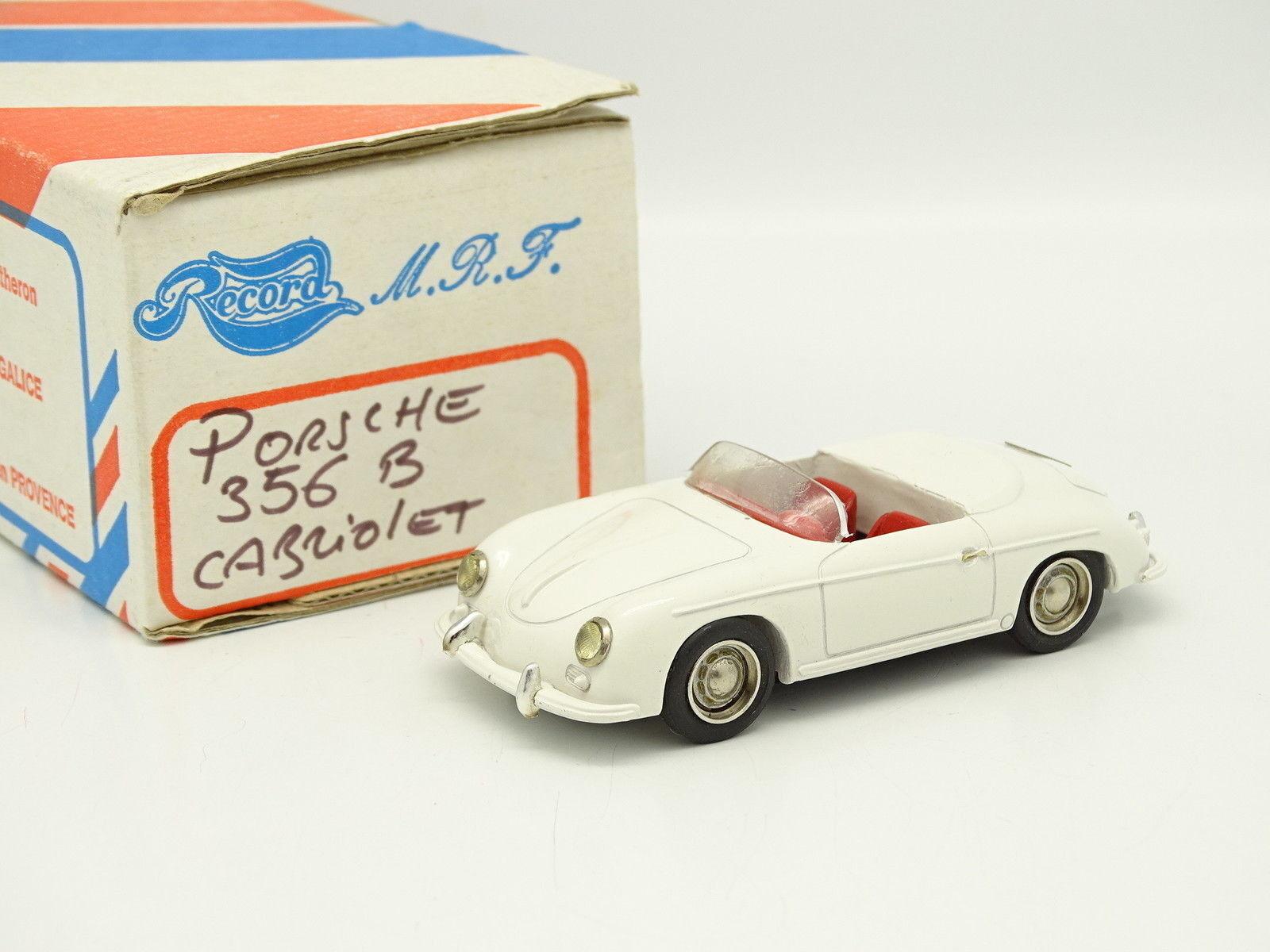 Record Kit Monté 1 43 - Porsche 356 B cabriplet Blanche