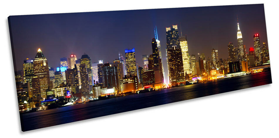 Cityscape New York City City City CANVAS WALL ART Panorama Framed Print 535b98