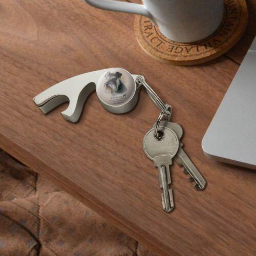 Schnauzer Dog Breed Chrome Plated Metal Whistle Bottle Opener Keychain Key Ring