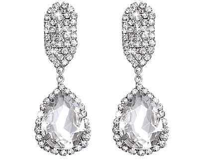 Ohrstecker silber gold Ohrringe Style Flügel Statement Glamour Hochzeit edel neu
