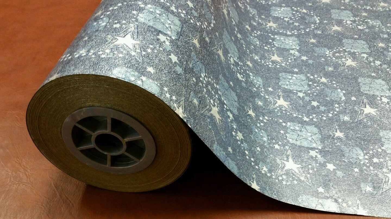 Half ream 24 inch inch inch wide Blau stars metallic kraft gift wrap 417 feet b38ddf