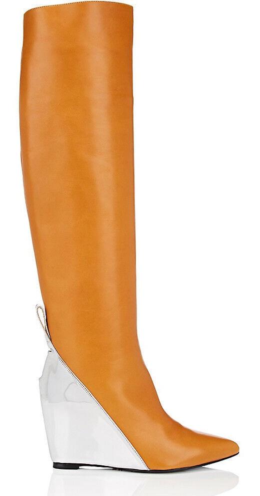 Paco Rabanne Colorblocked  Cuero Cuña Rodilla botas Talla 36 6 Nuevo  Colorblocked 1,695 a19eae