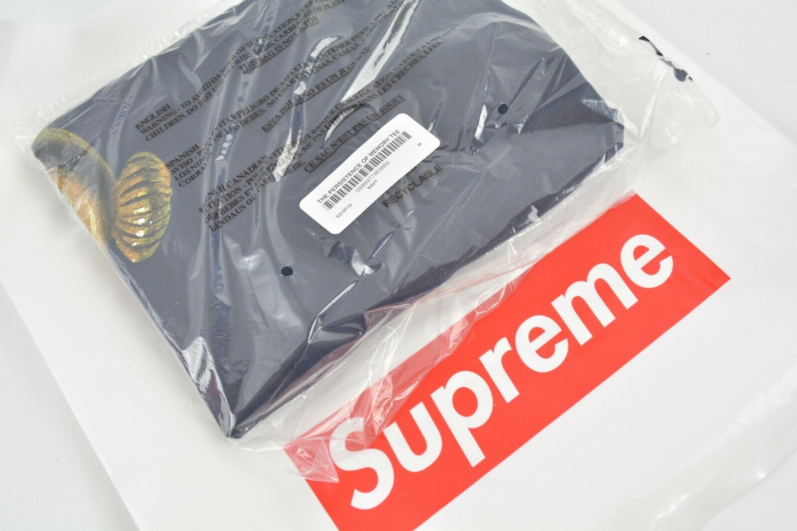 Supreme The Persistence of Memory Tee MEDIUM Navy SS19 IN HAND