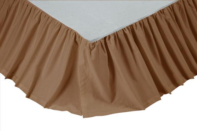 Solid Khaki Queen Bed Skirt, Khaki Bed Skirt Queen