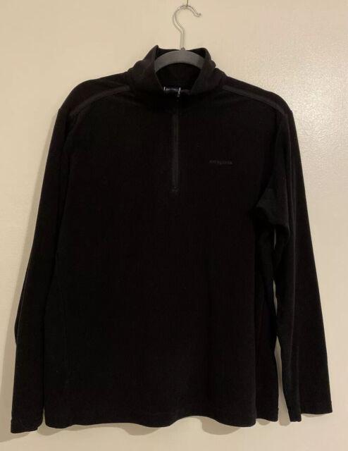 🎼Patagonia Women's Size Large Black 1/4 Zip Lightweight Sweater GUC #9