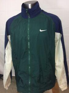 42ca91c9c79a Vintage Nike Men s Green Blue White Full Zip Windbreaker Jacket Big ...