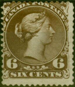 Kanada 1868 6c Blackish-Brown Schokolade SG59 Fein & Frisch Ungebraucht
