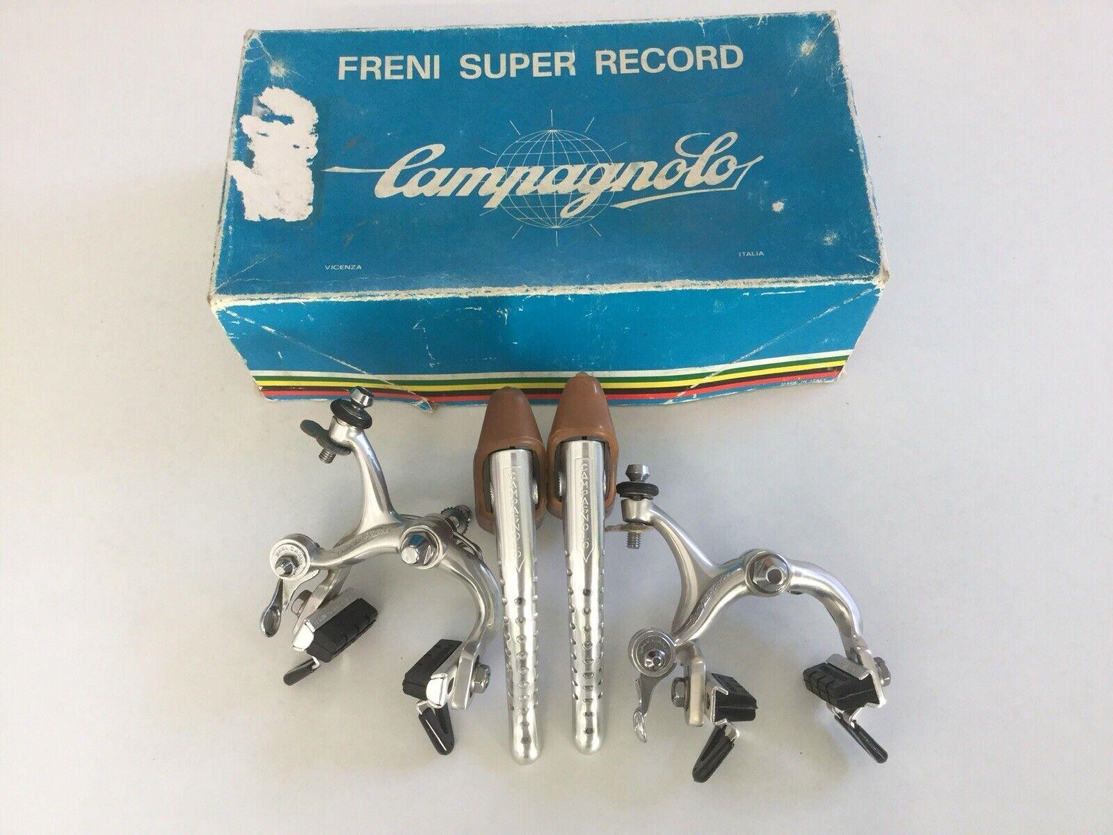 VINTAGE ITALIA CAMPAGNOLO SUPER RECORD FRENI NUOVO in scatola.