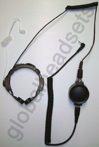 Tactical Throat Microphone for Motorola 2.5 mm Talk about Cobra PR FRS MRHH LI