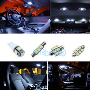 Image Is Loading 9x Bulb Car Led Interior Lights Package Kit