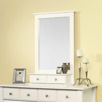 Sauder Shoal Creek Mirror Rectangular Dresser Wood White In Soft White Finish