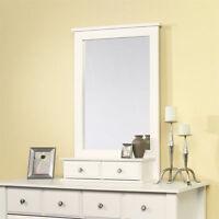 Sauder Shoal Creek Mirror Rectangular Dresser Wood White In Soft White Finish