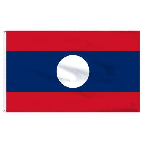 3x5 Laos Laotian Flag 3/'x5/' Banner Brass Grommets fade resistant premium
