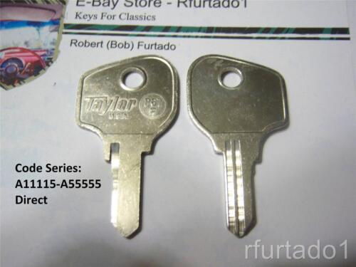 63P See Code Series Key Blank for Vintage Peugeot 1965 to 1979 Trunk//Glove Box