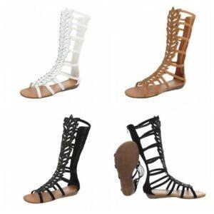 outlet 0bb48 6ca22 Dettagli su Scarpe donna sandali flat bassi comodi alla schiava ecopelle  brillantini zip