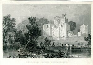 Brougham-Castle-Westmorland-Engraving-By-S-Lacey-Of-A-Drawing-Of-T-Allom