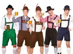 Mens-Bavarian-Beer-Guy-Oktoberfest-Outfit-Fancy-Dress-German-Lederhosen-New